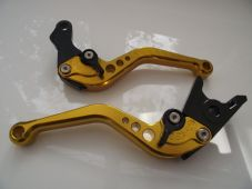 Hyosung GT250R (06-10), CNC levers short gold/black adjusters, F8/H8